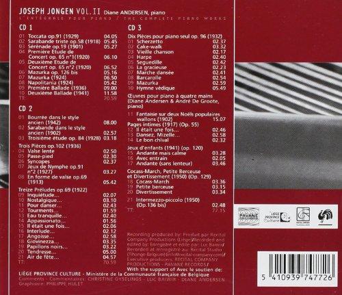 Jongen, Joseph : Complete piano works vol.2. Andersen, Diane/De Groote, André.