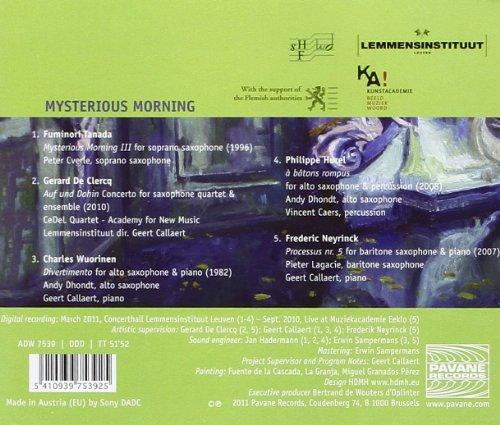 Mysterious Morning. Musique de virtuosité pour saxophone. Quatuor CeDeL.