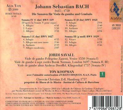 Sonates pour viole de gambe & clavecin