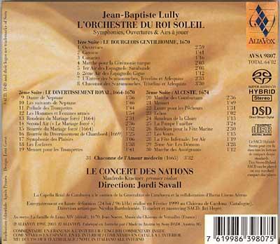 Lully - L'Orchestre du Roi Soleil - Symphonies, ouvertures & airs à jouer...