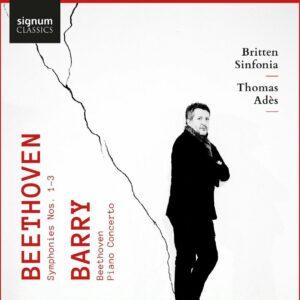 Beethoven: Symphonies Nos. 1-3 / Barry: 'Beethoven', Piano Concerto - Thomas Adès