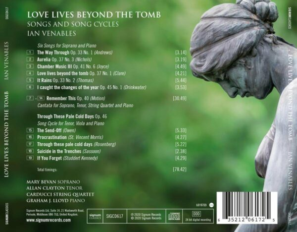 Venables: Love Lives Beyond The Tomb - Mary Bevan
