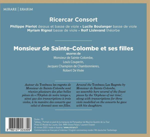 Monsieur de Sainte-Colombe et ses Filles - Ricercar Consort
