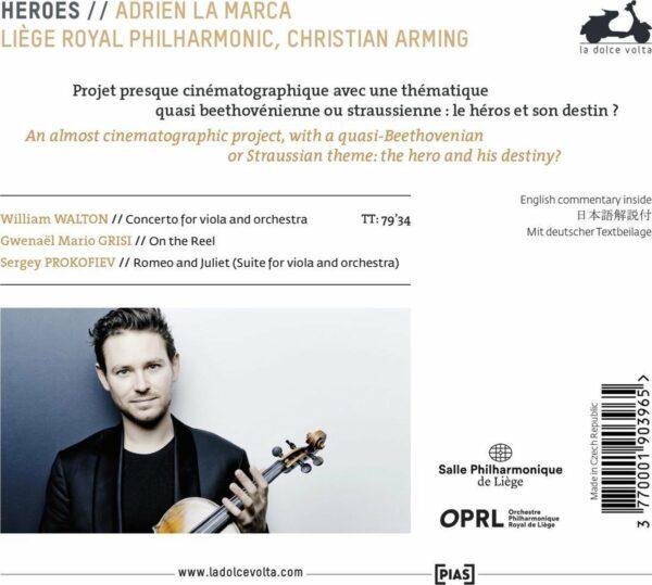 Walton / Grisi / Prokofiev: Heroes - Adrien La Marca