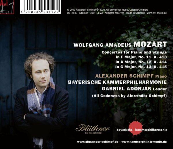 Mozart: Piano Concertos K413 & K415 - Alexander Schimpff & Bayerische Kammerphilharmonie