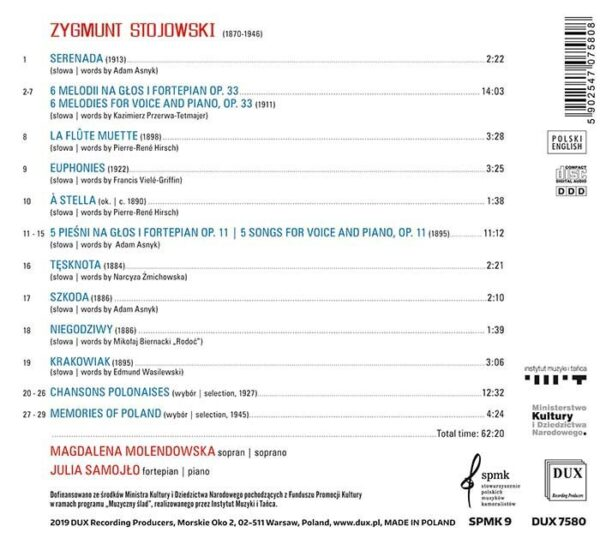 Stojowski Songs - Magdalena Molendowska