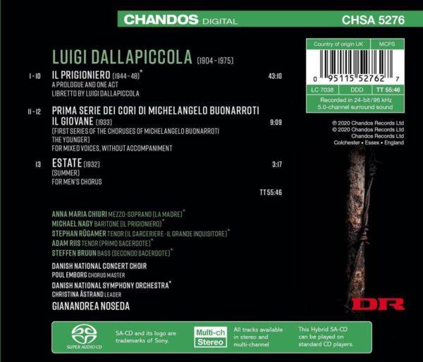 Luigi Dallapiccola: Il Prigioniero - Gianandrea Noseda