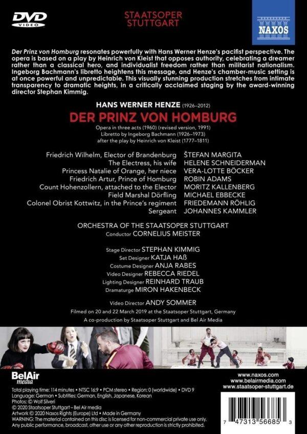 Hans Werner Henze -: Der Prinz Von Homburg - Cornelius Meister