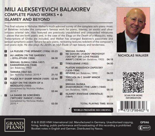 Balakirev: Complete Piano Works Vol.6 - Nicholas Walker