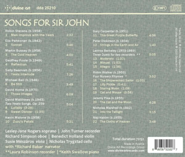 Songs For Sir John: A Tribute To Sir John Manduell - Lesley-Jane Rogers