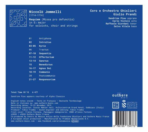 Niccolo Jommelli: Requiem - Sandrine Piau
