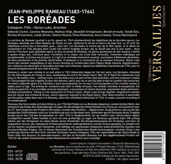 Rameau: Les Boreades - Vaclav Luks