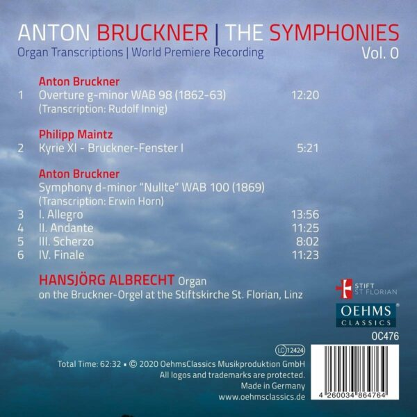 Bruckner: The Symphonies, Vol. 0 (Organ Transcriptions) - Hansjorg Albrecht