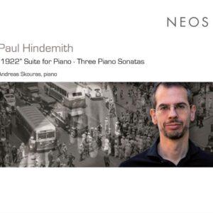 """Hindemith: Klaviersuite """"1922"""", Piano Sonatas Nos.1-3 - Andreas Skouras"""