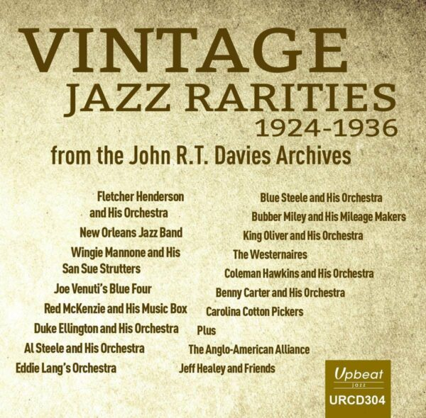 Vintage Jazz Rarities 1924-36 - John R.T. Davies Archives