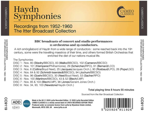 Haydn: Symphonies (Recordings from 1952-60 The Itter Broadcast Collection)