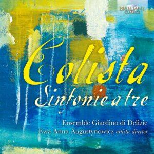 Lelio Colista: Sinfonie A Tre - Ensemble Gilardino Di Delizie