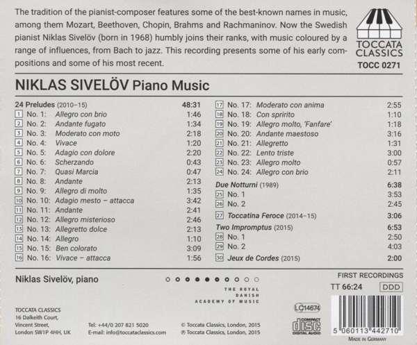 Sivelöv: Piano Music - Niklas Sivelöv