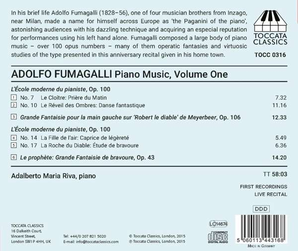 Fumagalli: Piano Music - Adalberto Maria Riva