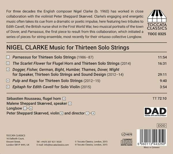 Nigel Clarke: Music for 13 Solo Strings - Longbow