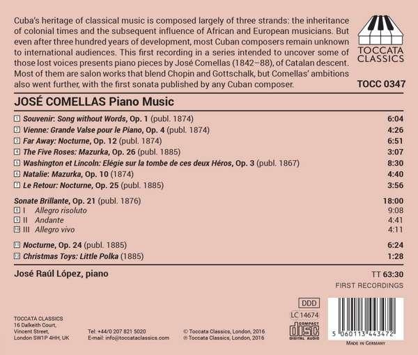 Comellas: Piano Music - Jose Raúl Lopez