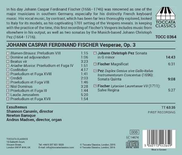 Fischer: Vespers Op.3 - Exsultemus
