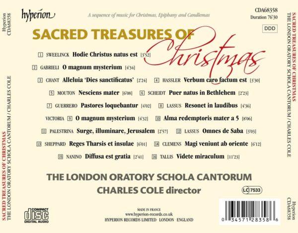 Sacred Treasures Of Christmas - London Oratory Schola Cantorum