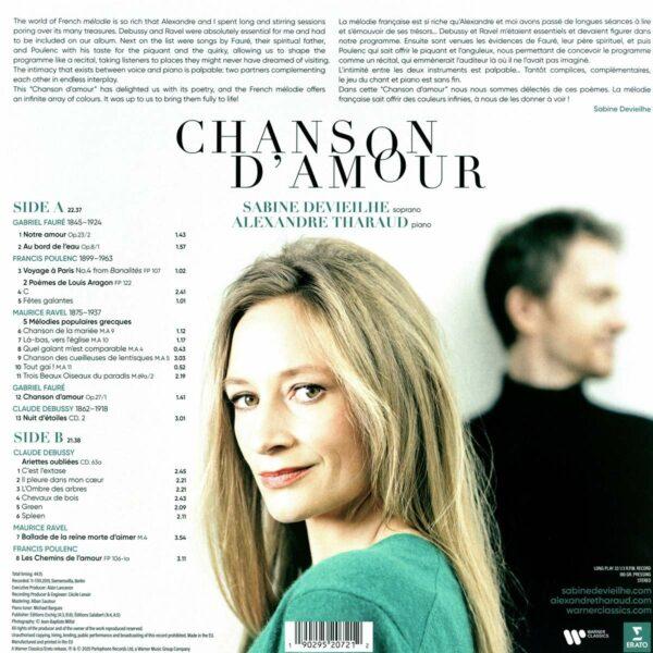 Chanson D'Amour (Vinyl) -  Sabine Devieilhe & Alexandre Tharaud