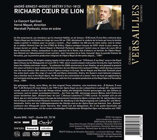 André-Modeste Grétry: Richard Coeur De Lion - Hervé Niquet