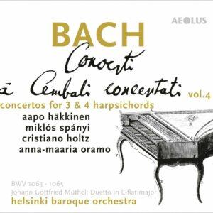 Bach: Concerti A Cembali, Concertati Vol. 4 - Miklos Spanyi