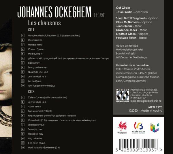 Johannes Ockeghem: Les Chansons - Cut Circle