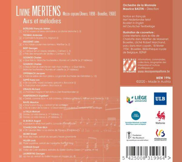 Airs Et Melodies - Livine Mertens
