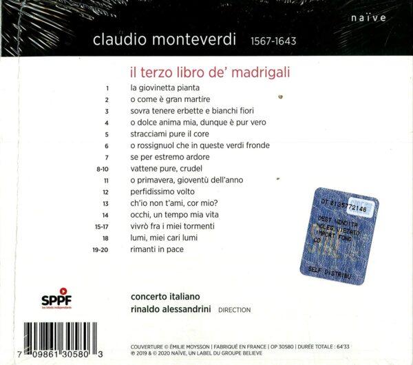 Monteverdi: Il Terzo Libro De Madrigali - Concerto Italiano