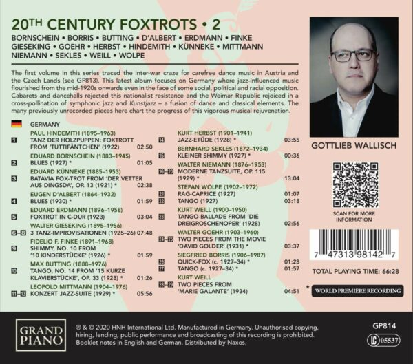 20th Century Foxtrots Vol. 2 (Germany) - Gottlieb Wallisch