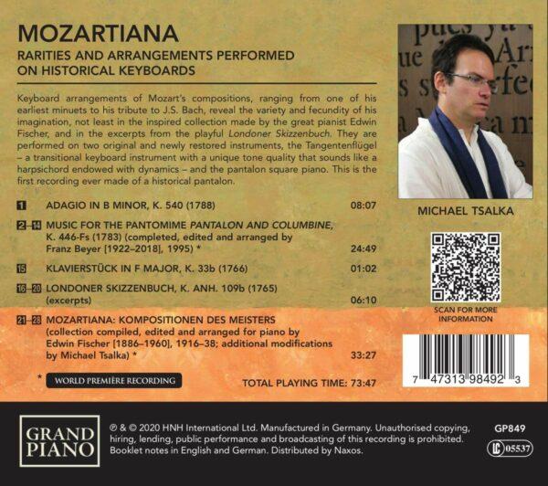 Mozartiana: Rarities And Arrangements Performed On Historical Keyboards - Michael Tsalka
