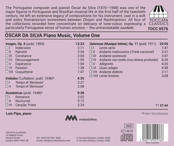 Oscar Da Silva: Piano Music, Vol.1 - Luis Pipa