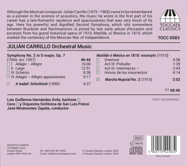 Julian Carrillo: Orchestral Music - José Miramontes Zapata