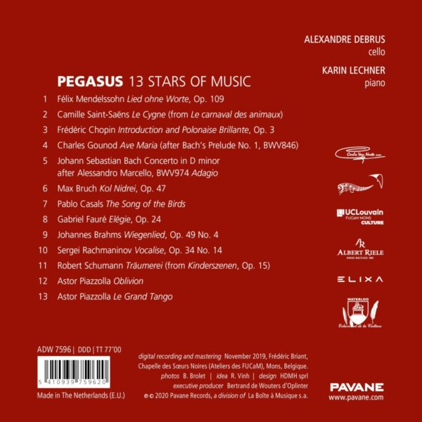 Pegasus: 13 Stars Of Music - Alexandre Debrus & Karin Lechner