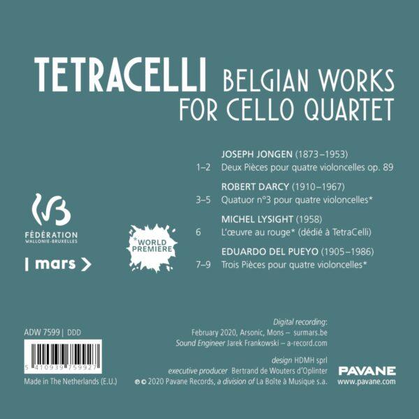 Belgian Works For Cello Quartet - Tetracelli