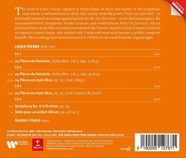 Vierne: Oeuvres Pour Orges - Gaston Litaize