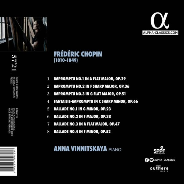 Frederic Chopin: 4 Ballades & 4 Impromptus - Anna Vinnitskaya