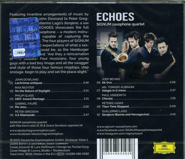 Echoes - Signum Saxophone Quartet