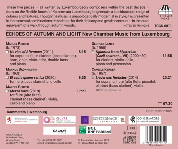 Echoes Of Autumn And Light: New Chamber Music From Luxemburg - Kammerata Luxembourg