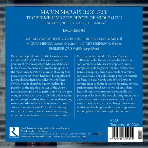 Marais: Troisième Livre de Pièces de Viole - François Joubert-Caillet