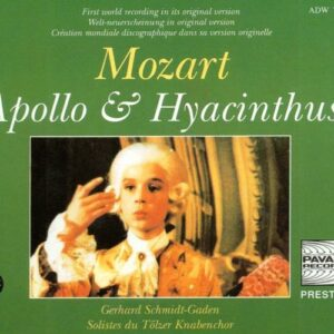 Mozart : Apollo & Hyacinthus K. 38. Tölzer Knabenchor/Schmidt-Gaden.