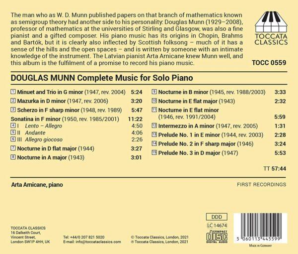Douglas Munn: Complete Music For Solo Piano - Arta Arnicane
