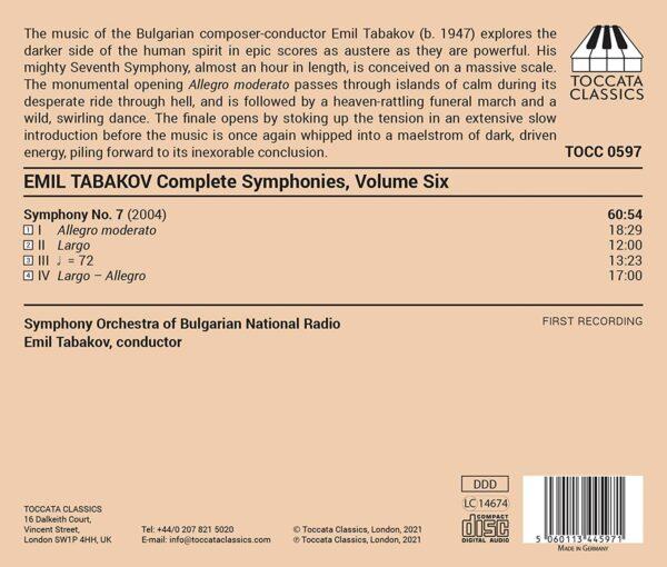 Emil Tabakov: Complete Symphonies Vol.6 - Emil Tabakov
