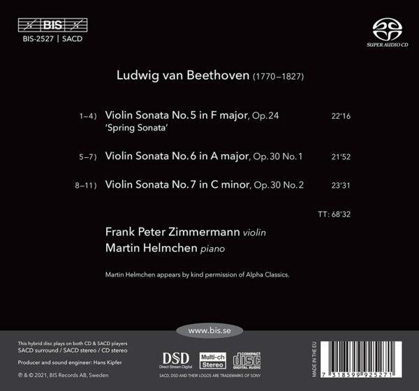 Beethoven: Violin Sonatas Vol 2: Nos. 5-7 - Frank Peter Zimmermann & Martin Helmchen