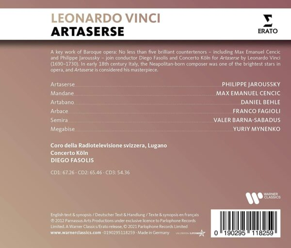 Vinci: Artaserse - Philippe Jaroussky
