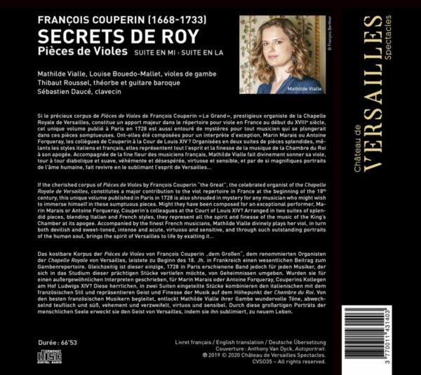 François Couperin: Secrets De Roy, Pièces De Violes - Sebastien Daucé